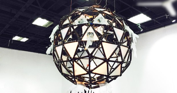 Breathe: A geodesic sphere which houses inflatable modules.