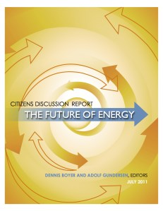 Energy report cover page photo