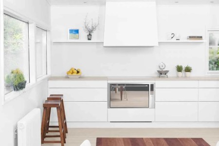 clean white kitchen design