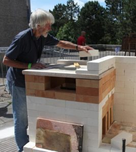 David Frith building the Eco Kin at ICF 2015