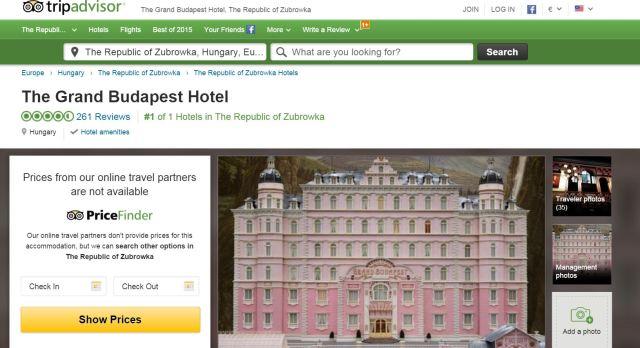 TripAdvisor Grand Budapest Hotel