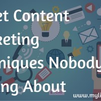 Secret Content Marketing Techniques Nobody Talking About