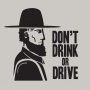 'Amish: Don't Drink or Drive' Funny T-Shirt for Men