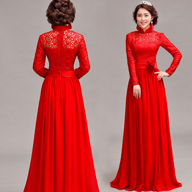 Asian-inspired-mandarin-red-Chinese-dress  (4)