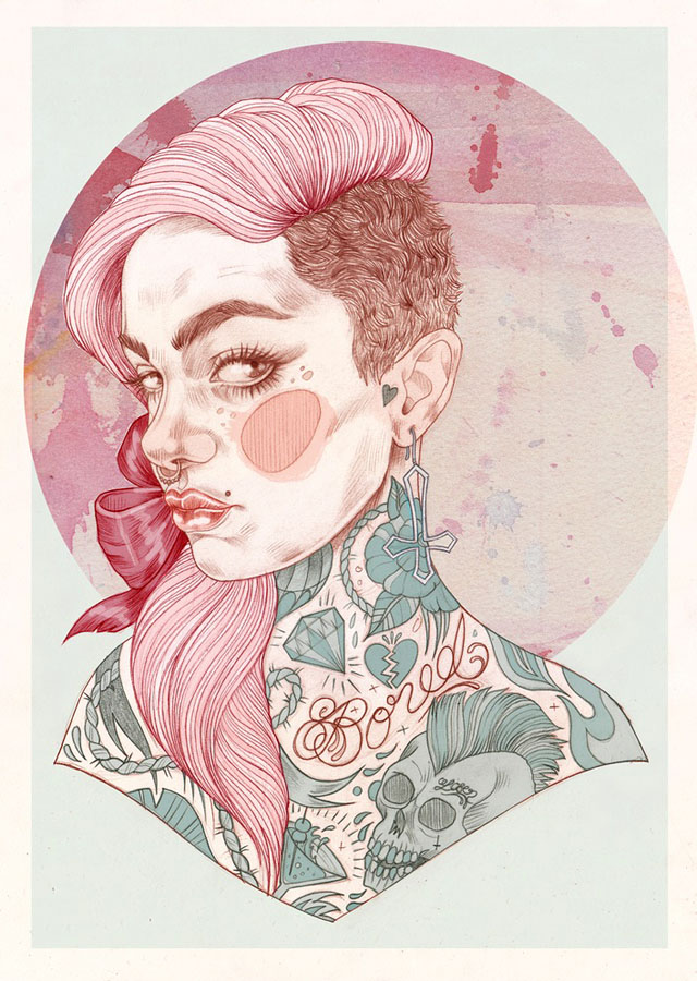 Tattoo inspired art by Liz Clements (1)