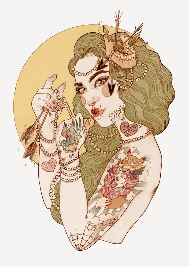 Tattoo inspired art by Liz Clements (5)