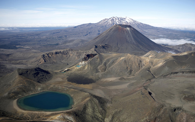 Tongariro National Park in Ruapehu District, New Zealand.