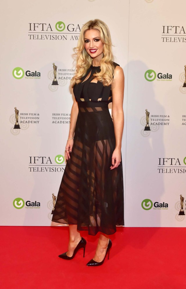 Rosanna Davison arriving on the red carpet for the IFTA Gala Television Awards at the Double Tree by Hilton Hotel, Dublin. Photo by Michael Chester No Fee Pic