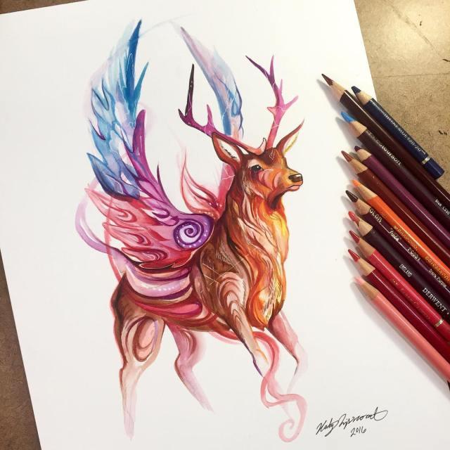 Pencil_Marker_Animal_illustrations_By_Katy_Lipscomb (14)