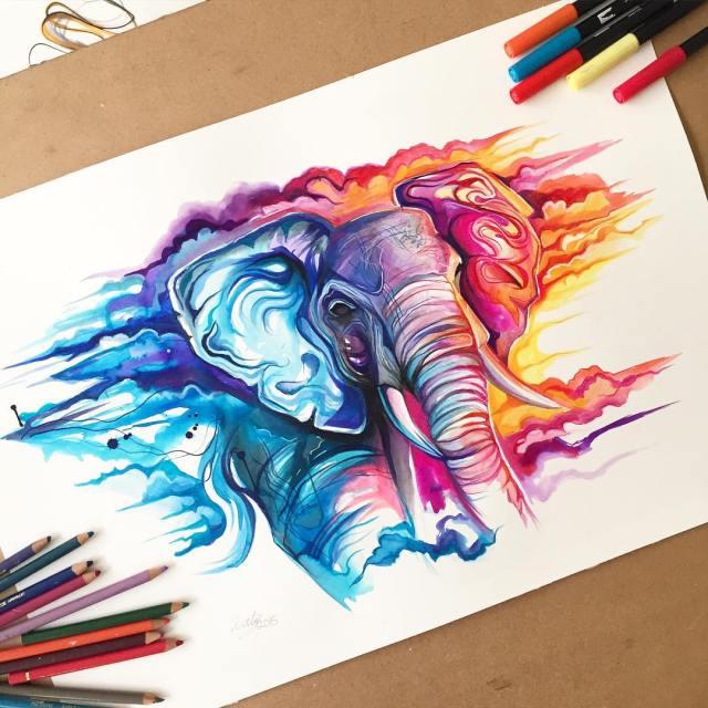 Pencil_Marker_Animal_illustrations_By_Katy_Lipscomb (4)