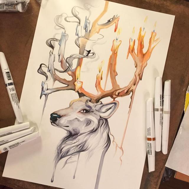 Pencil_Marker_Animal_illustrations_By_Katy_Lipscomb (5)
