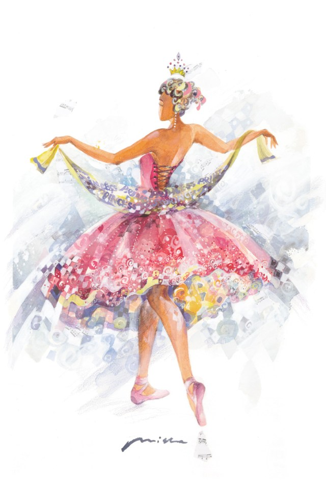 Paintings and Illustrations of Ballet Dancers (4)