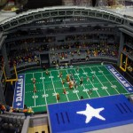 Dallas Cowboys LEGO scaled