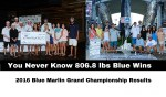 You Never Know 806.8 lbs Blue Wins