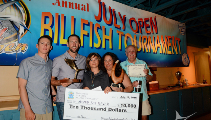 Never Say Never Wins USVI July Open