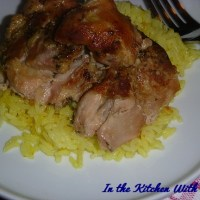 Slow Cooker Chicken Thighs With Saffron Rice