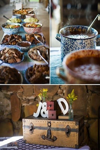Những món ăn mang hương vị gia đình đem đến sự thân mật và ấm cúng cho tiệc cưới.