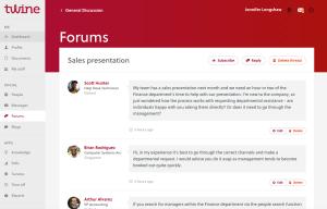 Twine forum screenshot
