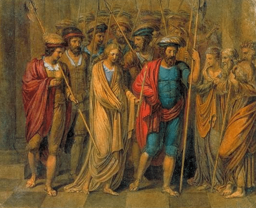 Painting of Jane Shore by William Blake