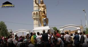 وقفة بغاي احتجاجا على تخريب تمثال الملكة ديهيا - خنشلة - إينوميدن.كوم