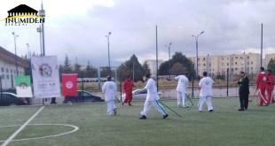 تعتبر أول مباراة دولية في لعبة ثاكورث