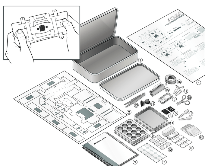 foldscope componentes