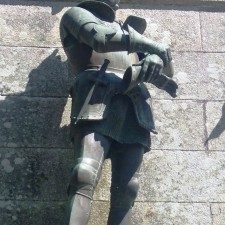 statue of Chevalier de Bayard in Sainte-Anne-d'Auray, Brittany