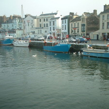 The harbor in the city Ramsey in Isle of Man - invest offshore