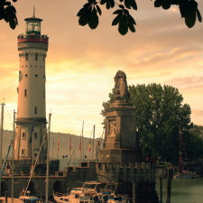 Lindau Hafen Sonnenuntergang, Germany - Asset Protection