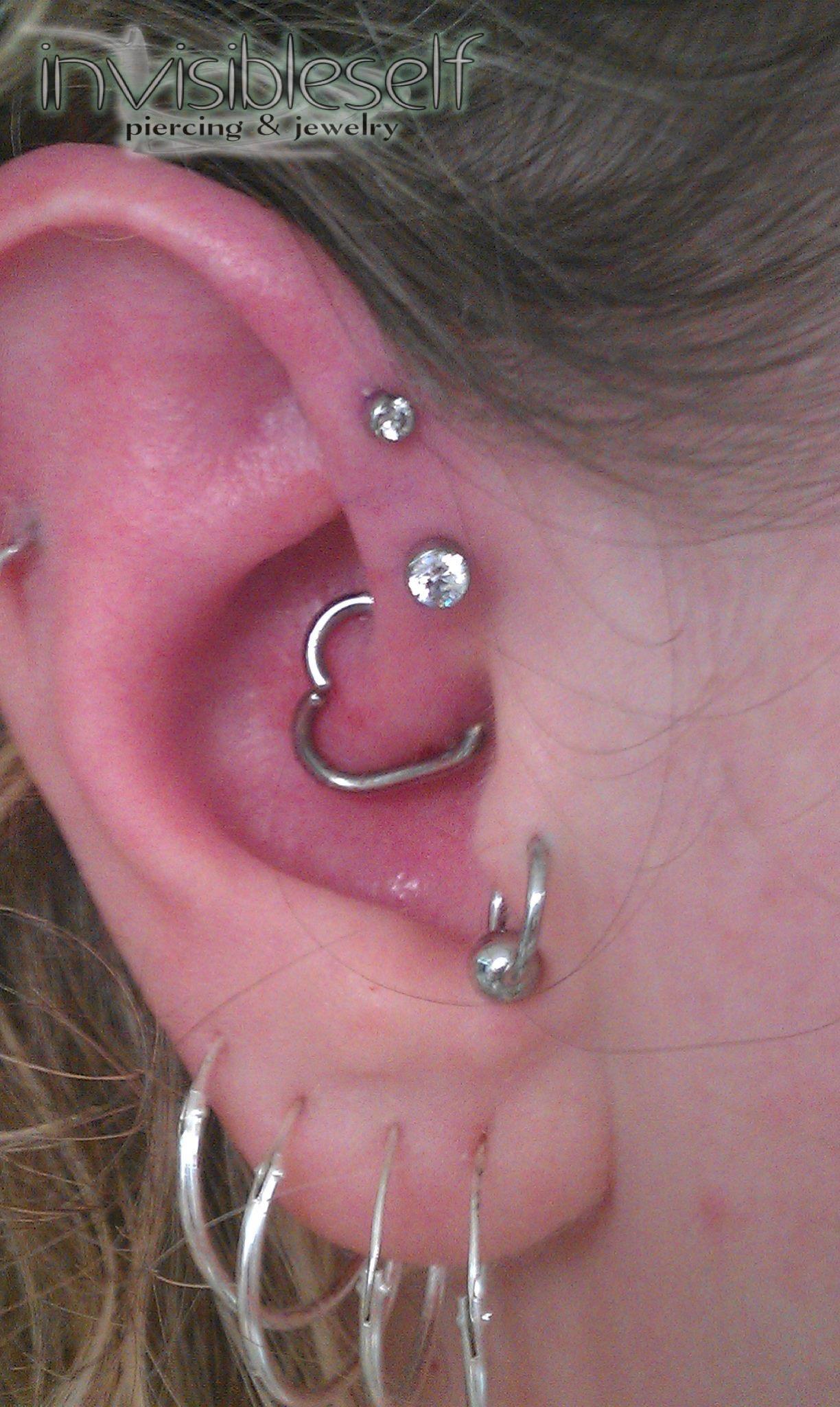 Multiple Ear Piercings Invself06
