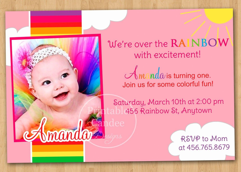 Fullsize Of First Birthday Invitations