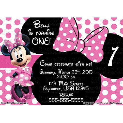 Medium Crop Of Minnie Mouse Invitations