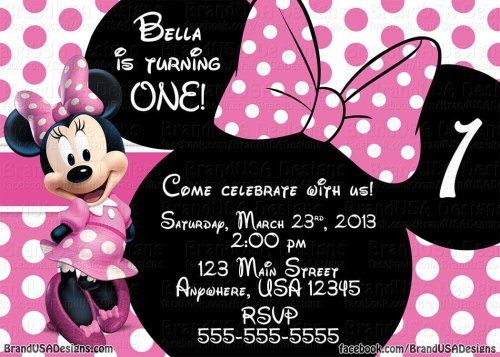 Medium Of Minnie Mouse Invitations
