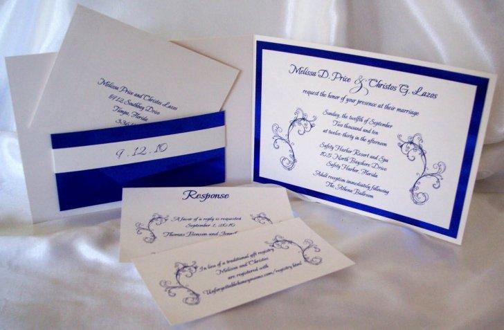 blue printable wedding invitation kits printable wedding invitation kits Blue And White Wedding Invitation Kits Best