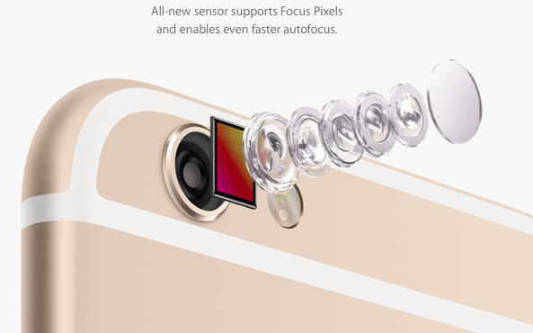 iphone 6s camara lentes