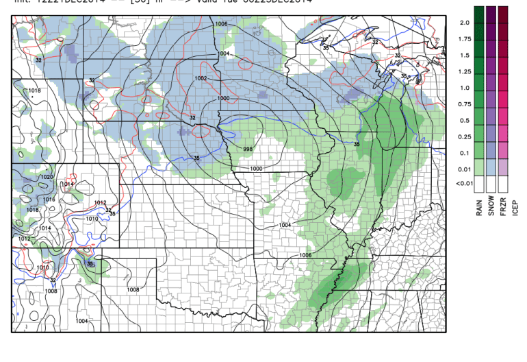 NAM 3 Hourly Precipitation Monday