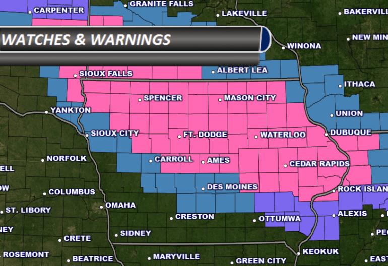 Iowa Watches and Warnings