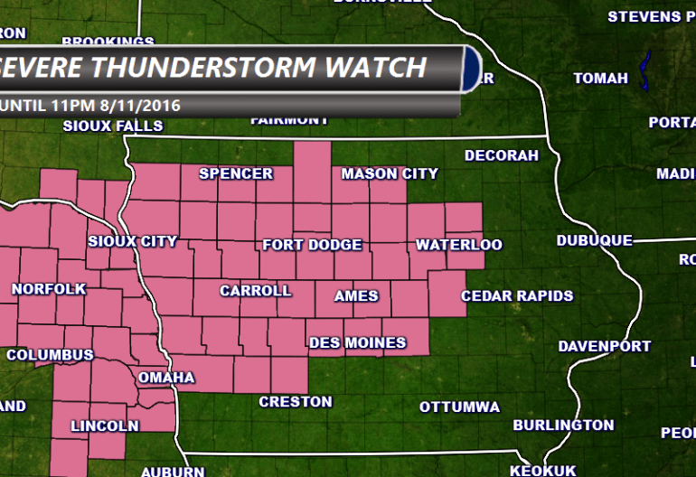 Iowa Severe Thunderstorm Watch