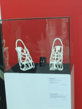"First 3D-printed ""Couture"" shoes by Naim Josefi made in polyamide by Materialise. (Photo Credit: Catherine Saez, IP-Watch)"