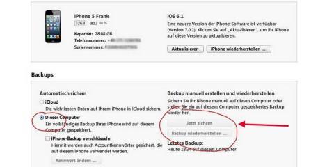 iPad Backup einrichten