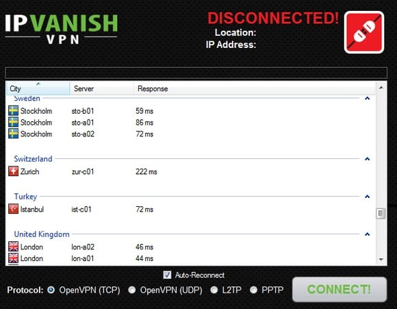 IP Vanish screenshot
