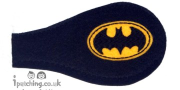 Batman_On_Black_Plastic_Frame_Orthoptic_Eye_Patch