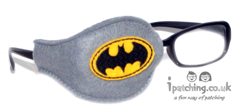 Batman On Grey Orthoptic Eye Patch