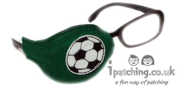 Football-On-Green-Plastic-Frame-Orthoptic-Eye-Patch