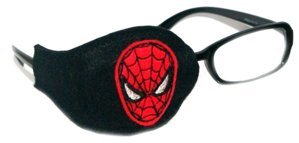 Spider_Man_On_Black_Plastic_Frame_Orthoptic_Eye_Patch