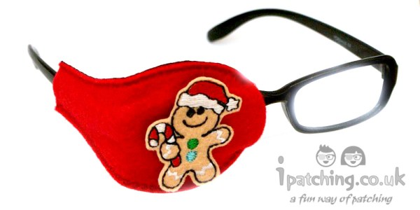 Gingerbread Man Orthoptic Eye Patch
