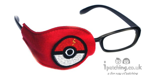 Pokemon Ball orthoptic eye patch