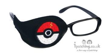 Pokemon Ball orthoptic eye patch