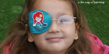 little mermaid orthoptic eye patch