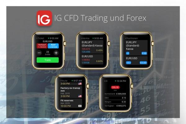 Apps für goldene Apple Watch - IG CFD Trading und Forex